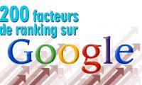 200 facteurs de ranking sur Google