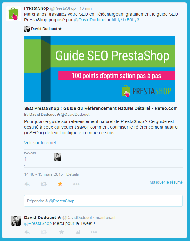 tweet-prestashop-officiel