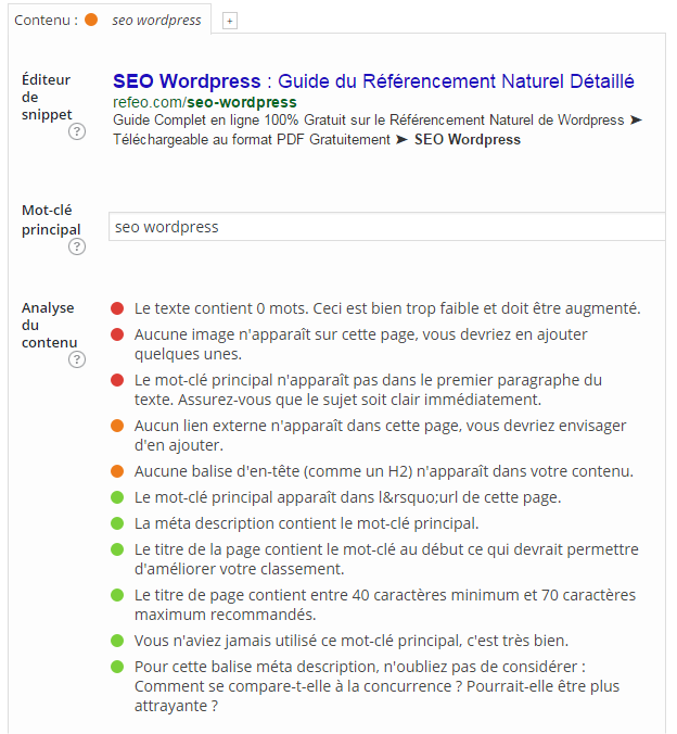 configurer yoast seo wordpress page