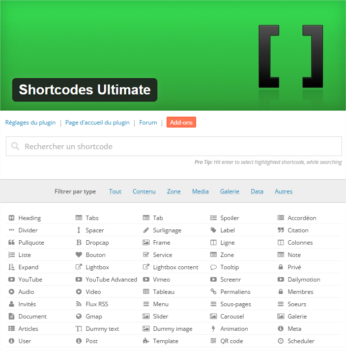 plugin wordpress utlimate shortcode